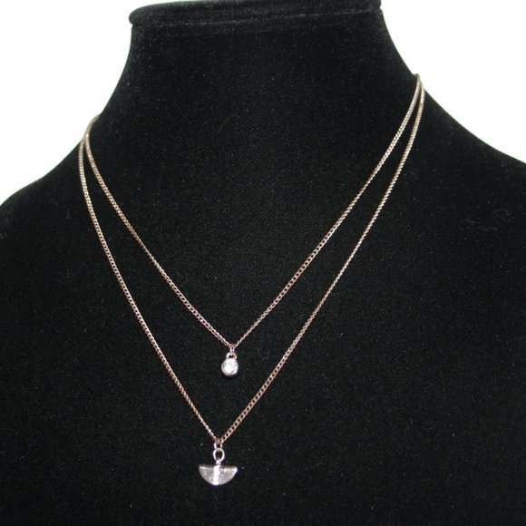 """Beautiful rose gold layered necklace 16-18"""""""